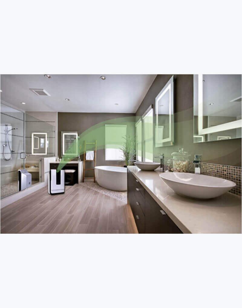 Purificador de aire con luz uv para baño