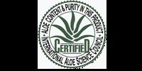 Certificado pureza Aloe Vera