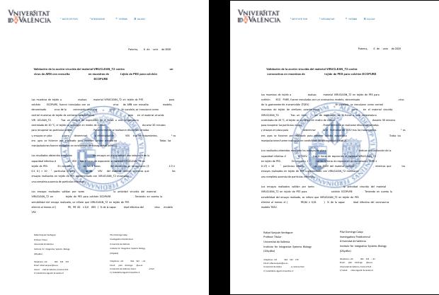Certificado Universidad de Valencia