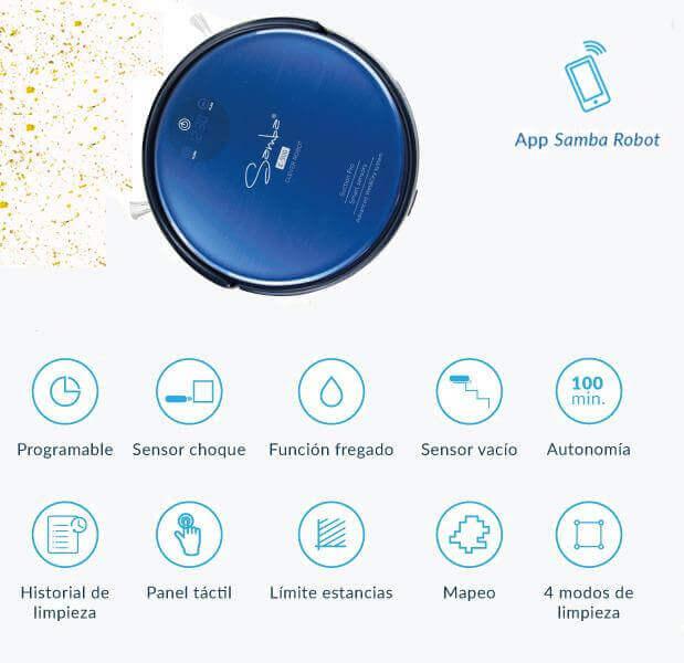 Robot aspirador con mapeo y app