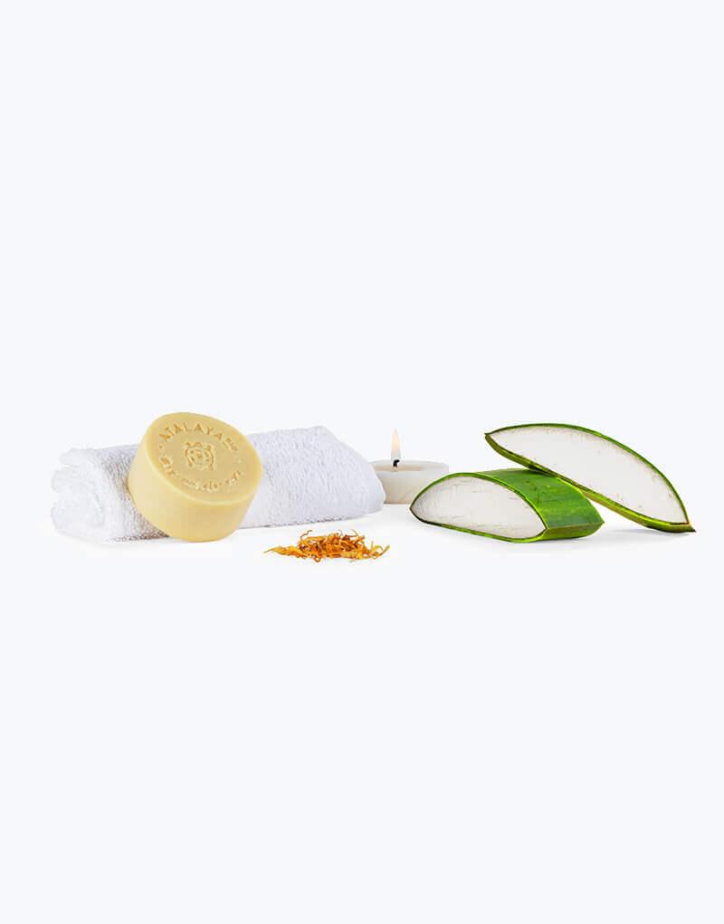 Aloe vera con calendula en jabón