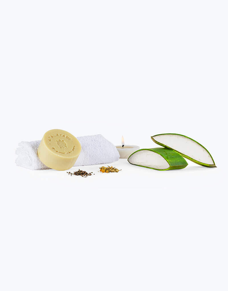 Jabón Facial Herbal Mediterráneo con Aloe Vera Natural Aloe vera Jabón