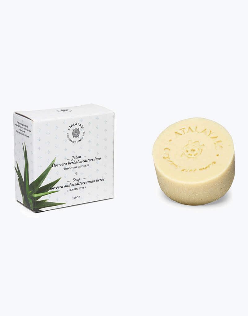 Jabón Facial Herbal Mediterráneo con Aloe Vera Natural Jabón