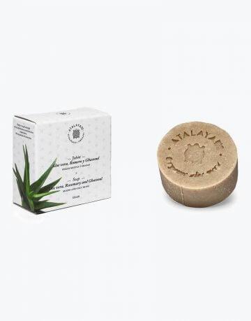 Jabón de Aloe Vera, Romero y Ghassoul Natural