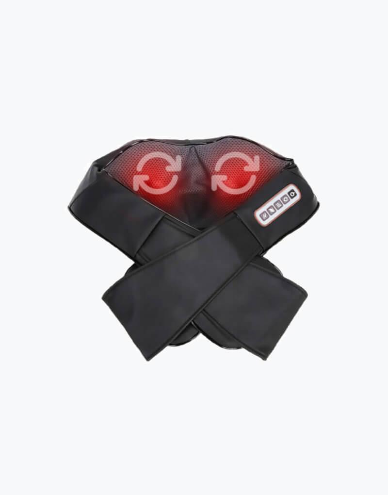 giratorio con calor Masajeador de Cuello con Calor y Vibración negro elimina dolores